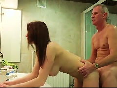 19yo Natural Big Breasted Youngster Seduces Her Much Older Lover