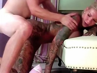Elfron Fucks Inked German Pornstar