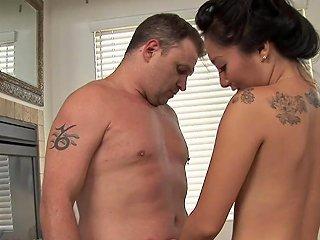 Asa Akira Gives A Prostate Massage And Jerks Him Off Any Porn
