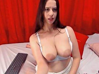 Webcam Teen Big Saggy Tits With Black Nipples