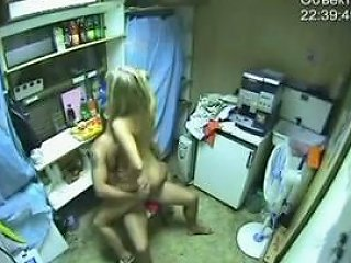 Security Cam Caught My Colleague Fucking A Naughty Teen