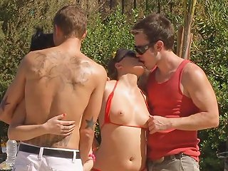 Beautiful Teens Get Fucked Outdoors By Strangers