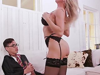Hot MILF Fuck Young Halloween Special With A Threesome