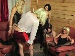3 Domme And 2 Slaves Feminization Txxx Com