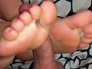 Beautiful Feet Exciting Footjob And Foot Fuck Cum On Soles Amp Toes
