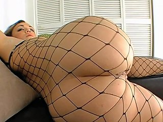 Slutty Babe In Fishnet Outfit Krystal Jordan Sucks And Fucks Lustfully