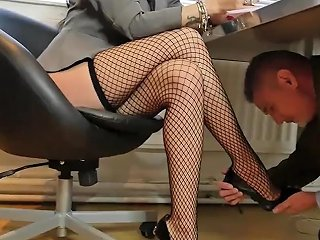 Sexy Boss Bitches Turn Office Perv Into Nylon Stockings Worship Foot Slave 124 Redtube Free Hd Porn