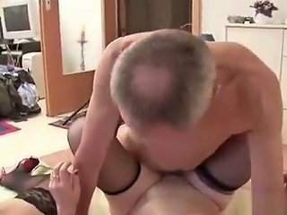 Over50 German Old Grandpa In Privat Amateur Threesome