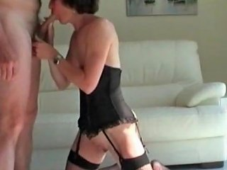My Milf Exosed Mature Wife In Fishnets With Clean Shaved