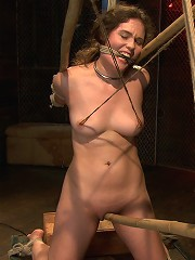 Charlotte submits to the bamboo...