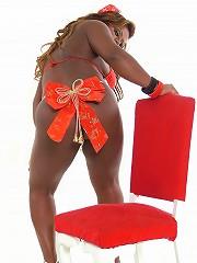 Sexy Santas girlfriend has a big surprise for you