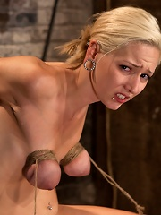 Southern girl made to brutally cum over & over. Tight bondage, cruel tit bondage. Orgasms overload!