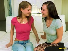 Two Slim Teens Make Out And Lick Each Other's Assholes In Lesbian Scene