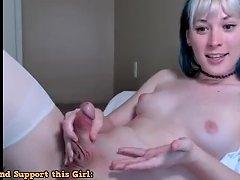 Tranny Girl Jerking Off On Cam