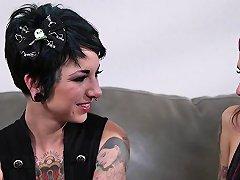 Goth Skank Gets Facial