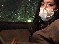 Japanese Crossdresser Masturbation In The Car
