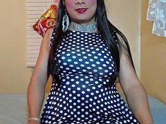 Blue White Polka Dot Dress 1