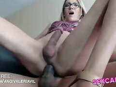 Guy And Ts Cum While Being Fucked