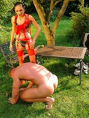 Man Who Thinks He Is A Monkey Is Disciplined By Hot And Mean Dominatrix